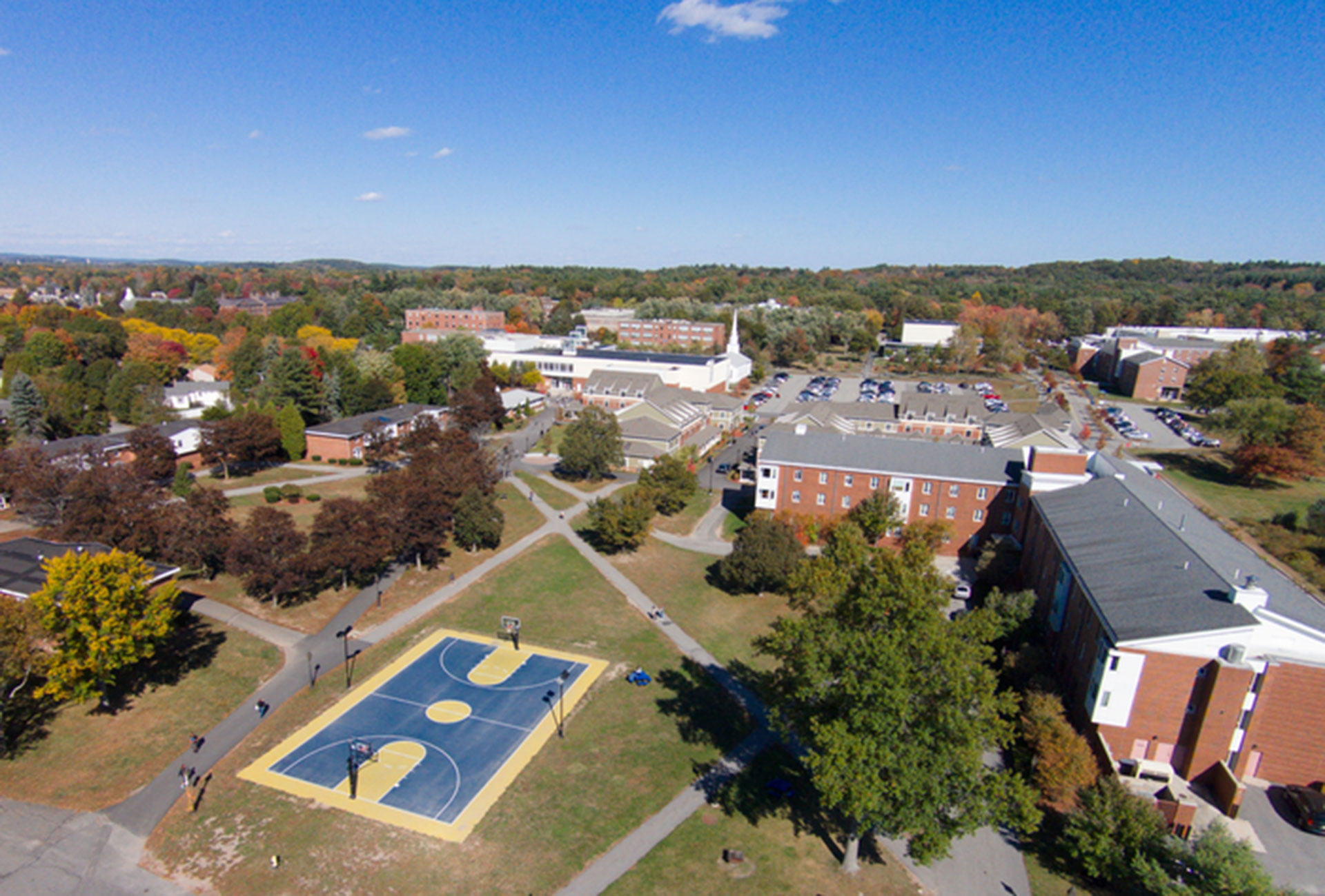 Arial view of Merrimack Campus